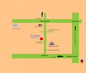 แผนที่ร้านโฮมคัลเลอร์
